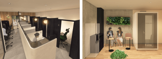 JR東日本が新規開業するコワーキング型シェアオフィス「STATION DESK」に、ブイキューブの「テレキューブ」が採用
