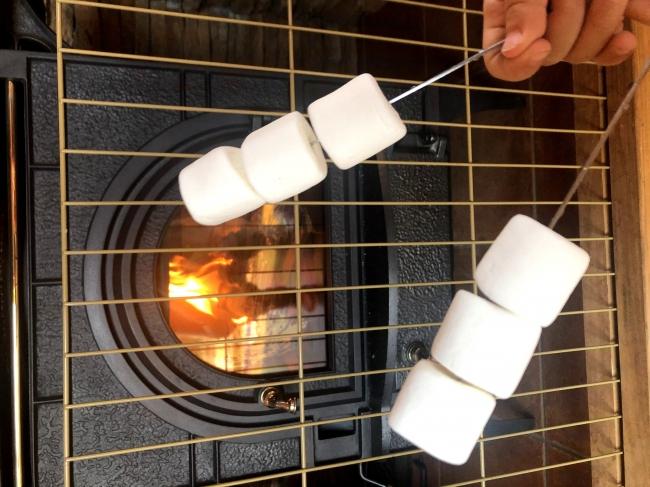 伊豆ハウス ラグジュアリーログ暖炉