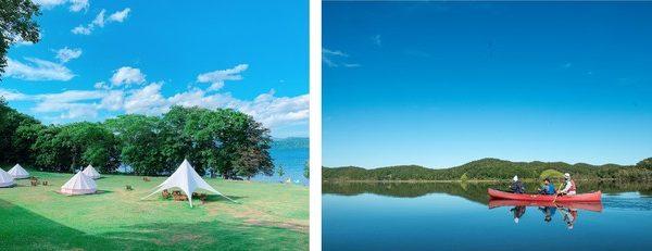 ワーケーションにも最適 屈斜路プリンスホテルと協同で屈斜路湖畔でのグランピング、自然体験プログラム開始!